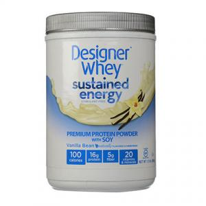 Designer Whey Premium Protein Powder with Soy in Vanilla Bean