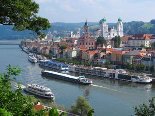 Passau's waterfront