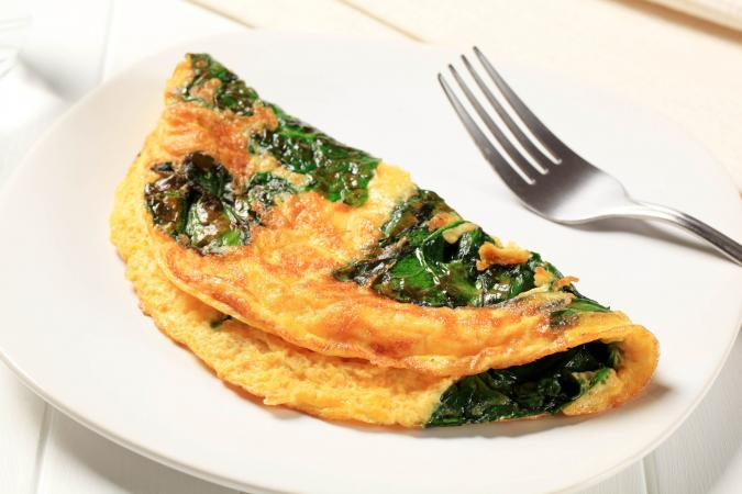 Omelet with chard
