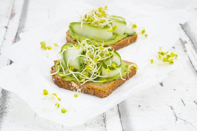 avocado and cucumber sandwich