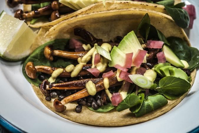 Enoki Tacos