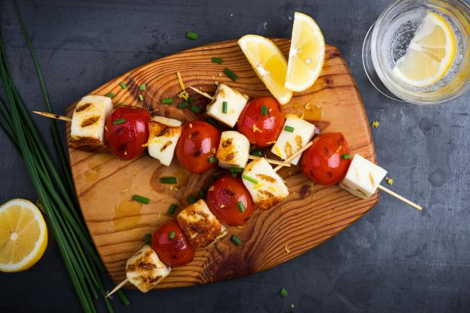 Grilled Lemon Coconut Tofu Kabobs