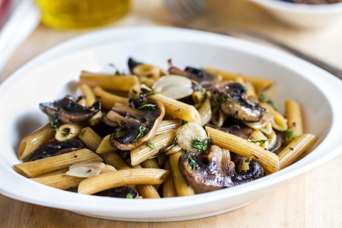Mushroom pasta with Herb sauce
