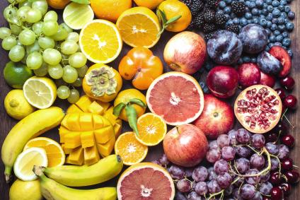 Colourful spectrum of fruit