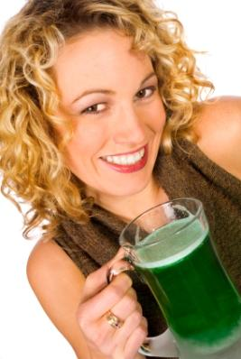 Woman Holding Green Beverage