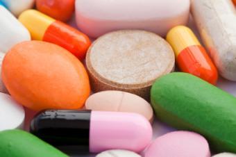 Multi-colored vitamins