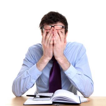 Stressed man at work