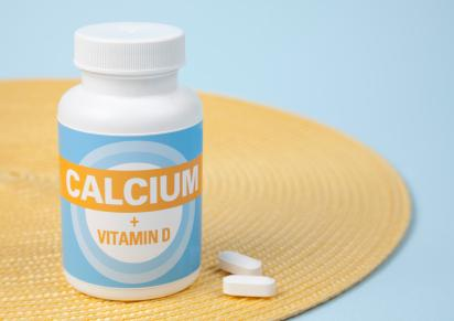 bottle of calcium supplements