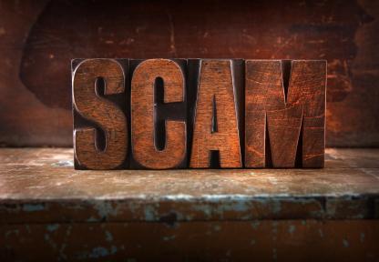 scam sign