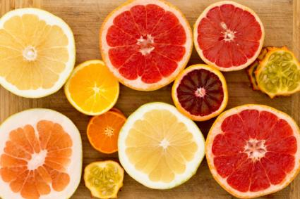 Assortment of citrus fruit