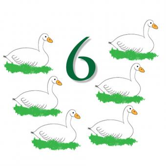 six geese a laying