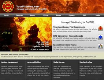 Firefighter Web Page Templates