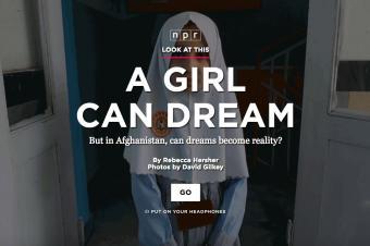 Screenshot npr.org post on afghan teens