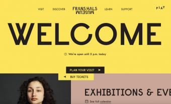 Screenshot of Frans Hals Museum home page