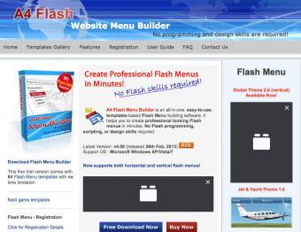 A4 Flash Menu Generator