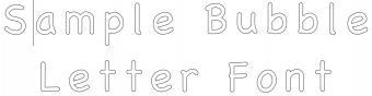 Bubble Letter Fonts