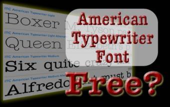 Free American Typewriter Font