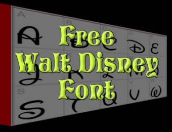 Free Walt Disney Font