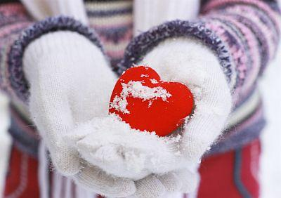 a heart in gloves