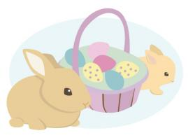 bunnies and basket