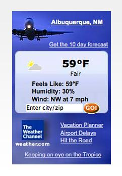 Weather Channel widget