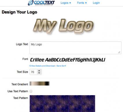 Cool Text logo creator