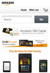 Amazon's mobile site