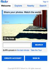 Flickr mobile site