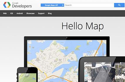 Screenshot of Google's Maps Geolocation API Website