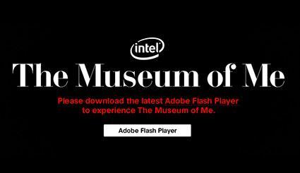 Screenshot of notification to download Flash Player