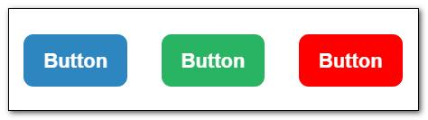 Three buttons created with HTML and CSS3.