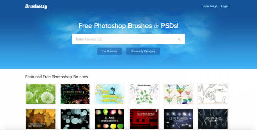 Screen shot of Brusheezy.com
