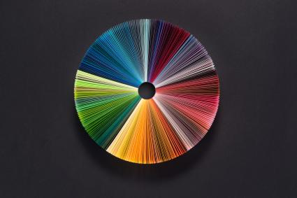 Colorful Pie Chart of Paper Pages