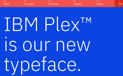 Screenshot of IBM Plex website