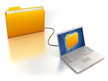 a laptop folder