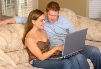 Couple on Internet