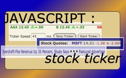 Javascript Stock Ticker