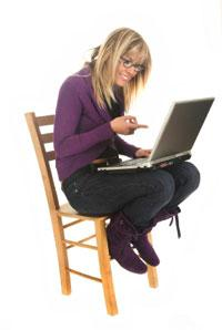 Woman Working with PHP