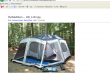 Screenshot of camping image on the live website