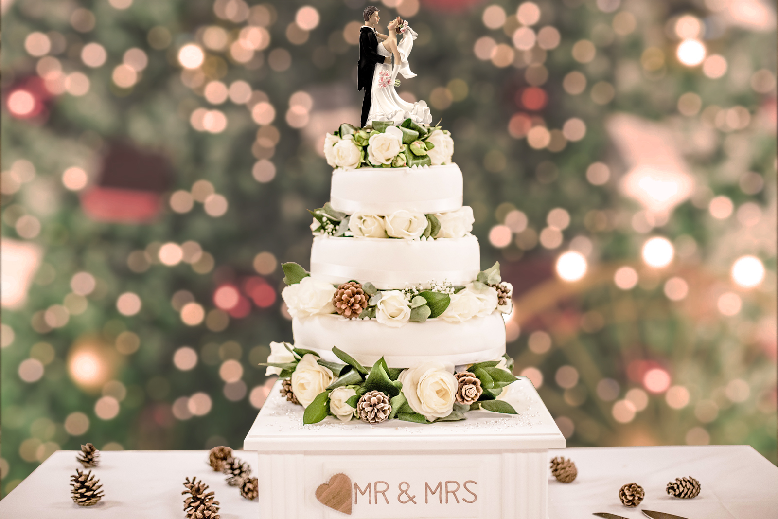Christmas Wedding Cake Toppers For Couples