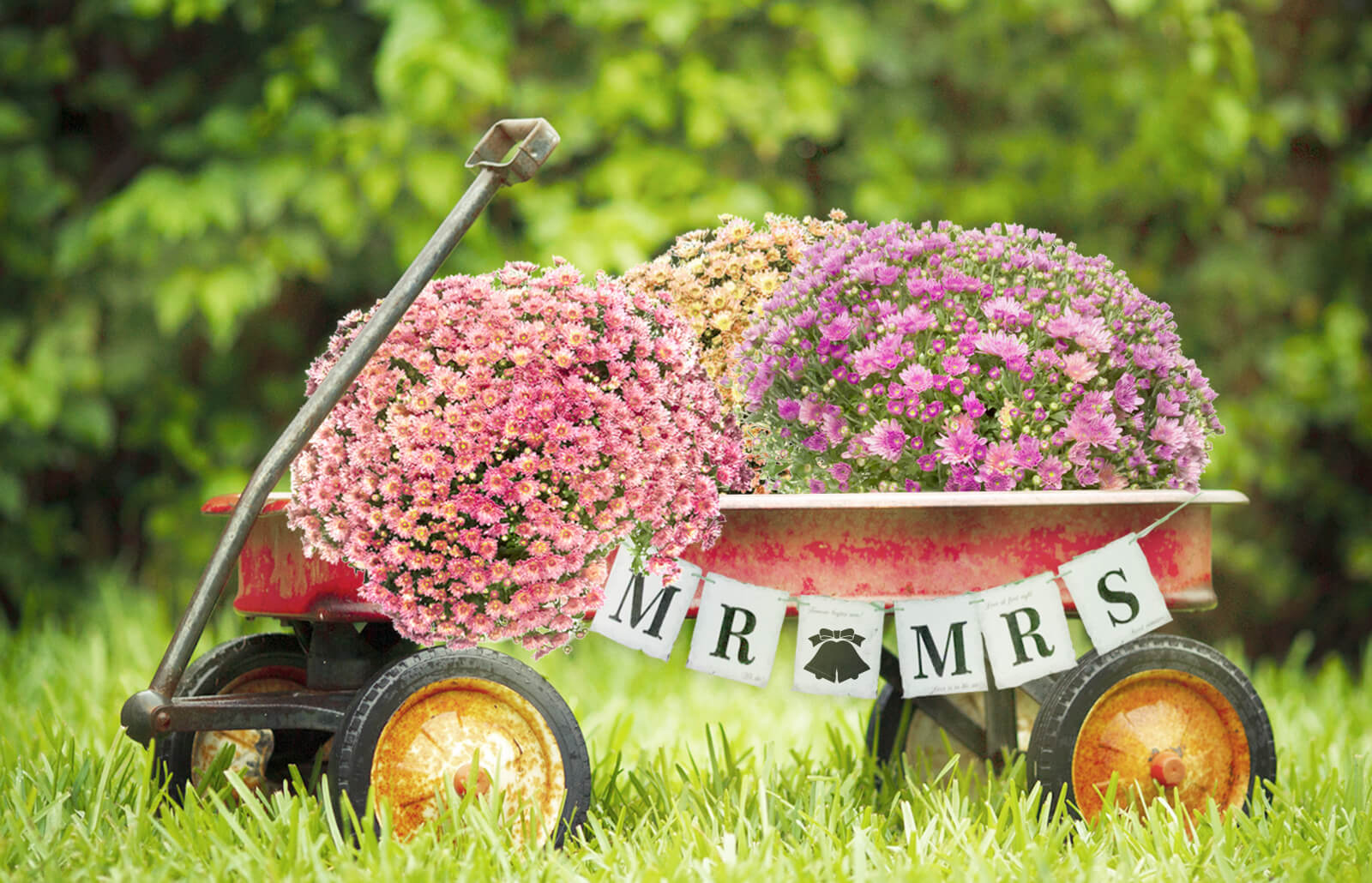How To Decorate A Red Wagon For A Wedding Lovetoknow