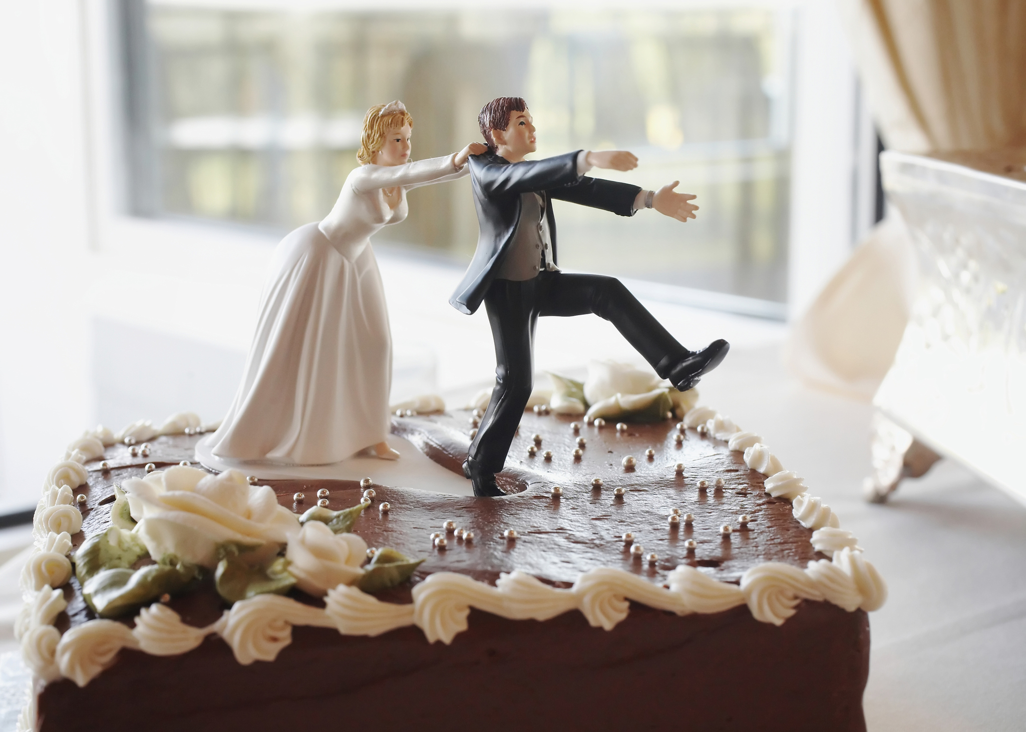 Wedding Party Reception ~Running Groom~ Cake Topper Funny Groom/'s Cake