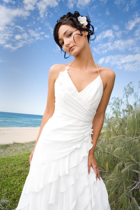 Beach Wedding Dress with Straps