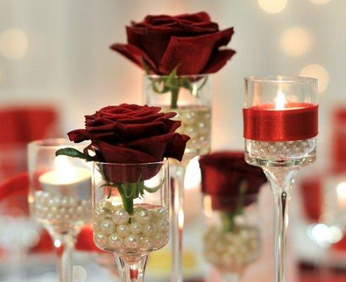Red wedding centerpieces lovetoknow source junglespirit Gallery