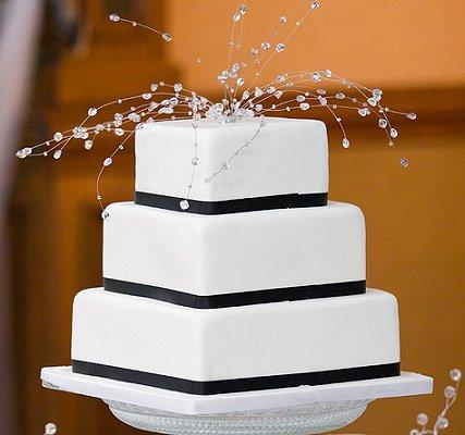 Attirant Pictures Of Black And White Wedding Cakes