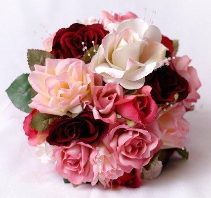 Pink wedding bouquets lovetoknow pinkbouquet7g mightylinksfo