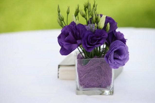 Purple Flower Centerpieces for Summer Weddings | LoveToKnow