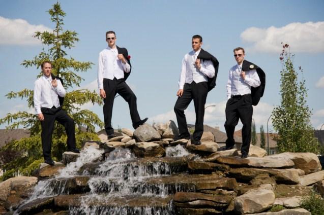 creative wedding poses for groomsmen lovetoknow