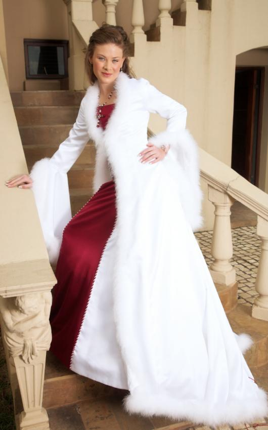 Pictures of winter wedding dresses lovetoknow winter wedding dress source white cape junglespirit Gallery