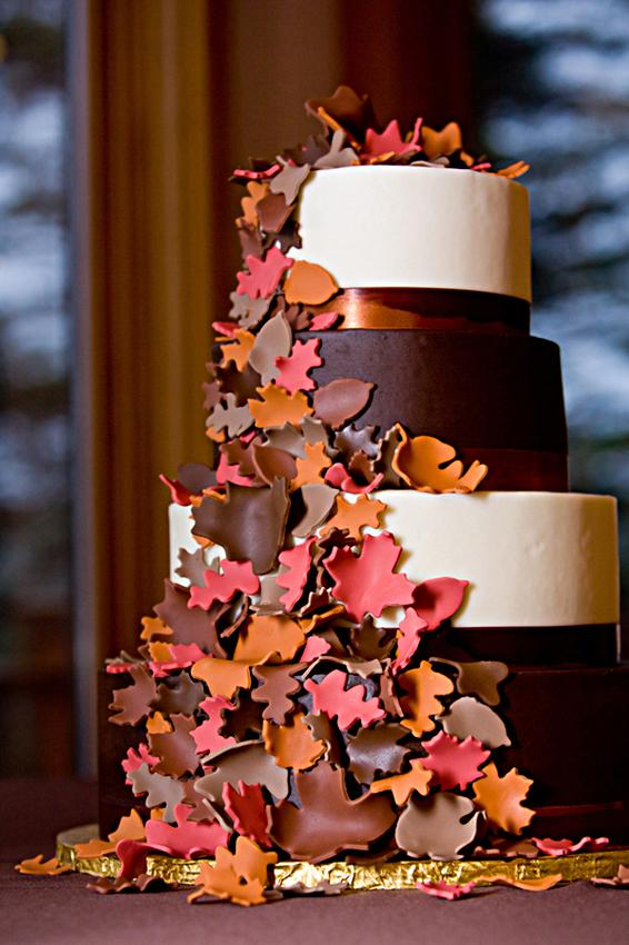 wedding cake leaves gallery of fall wedding cakes slideshow 23077